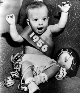 Don't get all nostalgic for the New Years Eve of yesteryear - this kid is wearing a cloth diaper and is likely wearing a Depends by now!  (Image from pinterest.com - first New Years Resolution - stay off of Pinterest for another year)