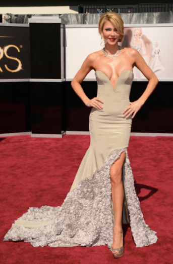 Look at the gown Brandi Glanville wore.  That's right THE Brandi Glanville!  (Image from crushable dot com)