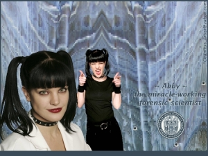 That's not a scientist; it's an actress doing a mediocre Betty Page imitation.  (Image from fanpop.com)