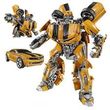 See!?  He looks like a Camaro, but he transforms into this cool killer robot thing, right?  Okay, so how do we fill the other 89 minutes of the movie?  (Image from tfcool dot com)