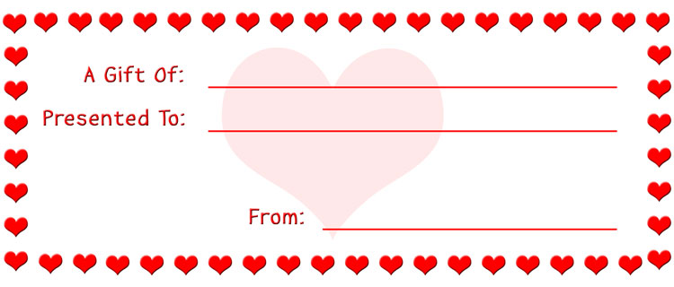 Valentines Gift Ideas For The Terminally Cheap – Make Your Own Gift Voucher Template