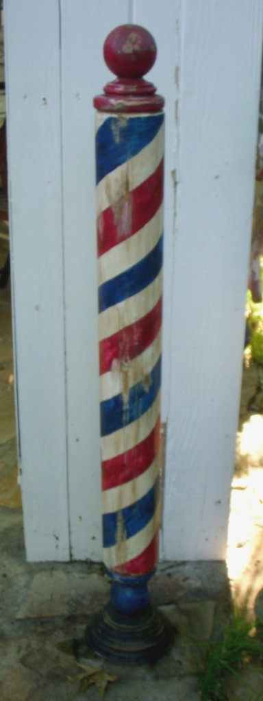 Maybe if you had a long enough barber's pole, Kandii could use that.  (Image from Etsy dot com)