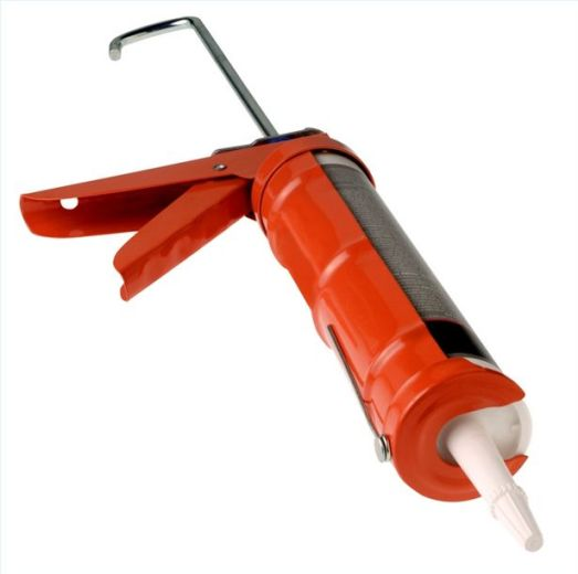 Caulk gun, you are my nemesis!  I smite thee and thy wretched tubes of goo.  (Image from ehow dot com)