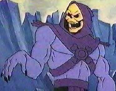 He doesn't look too much like Dungy in this pic and in an ironic twist, Skeletor looks kind of effeminate here.  (Image from Cracked dot com)